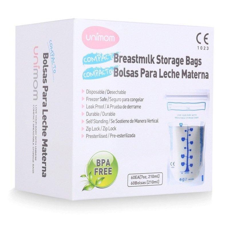 Túi đựng sữa mẹ (trữ sữa mẹ) Unimom tiêu chuẩn Standard không có BPA 210ml (60túi/hộp)