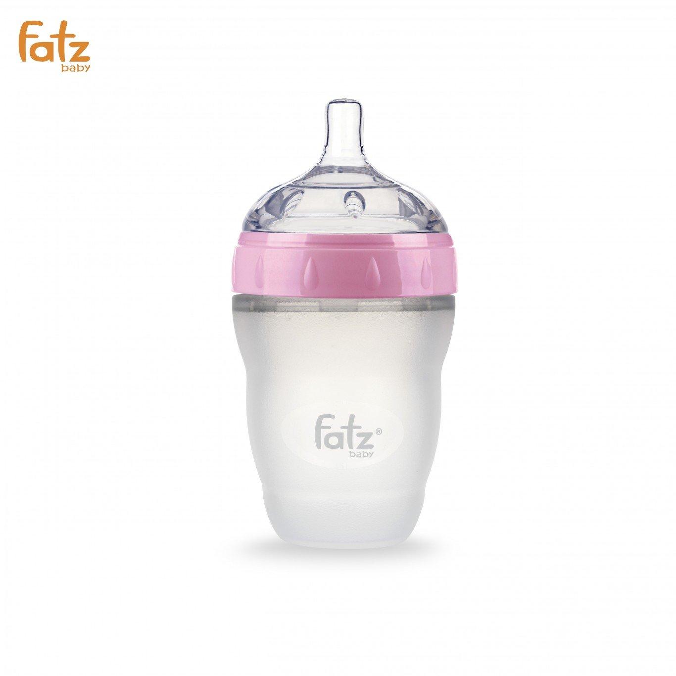 Bình sữa Silicon Fatz Baby 180ml FB0180C-H - Màu Hồng