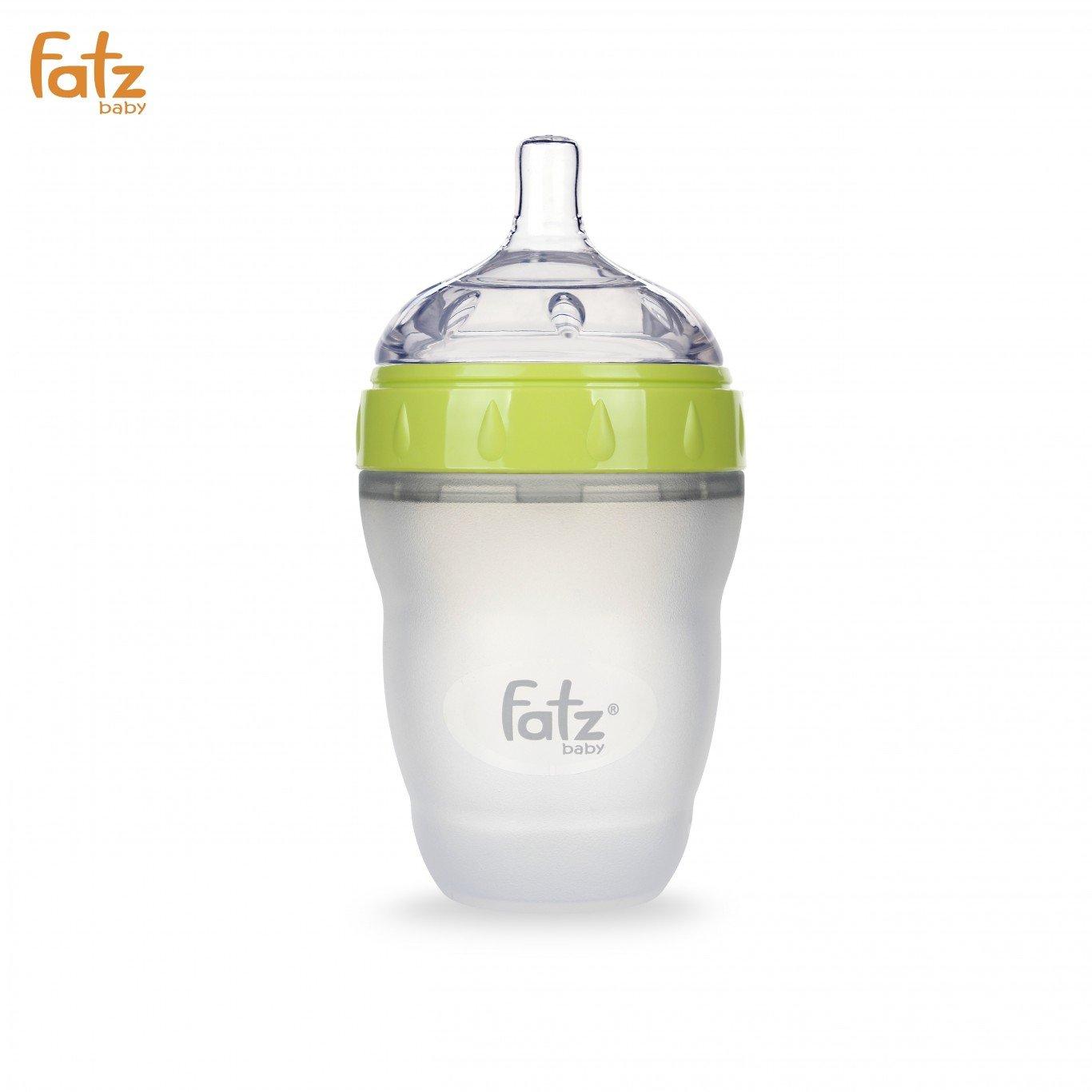 Bình sữa Silicon Fatz Baby 240ml FB0240C-X - Màu Xanh